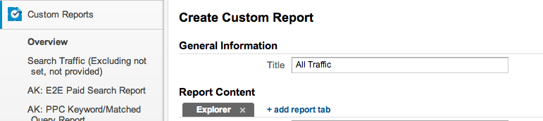 How to create custom reports