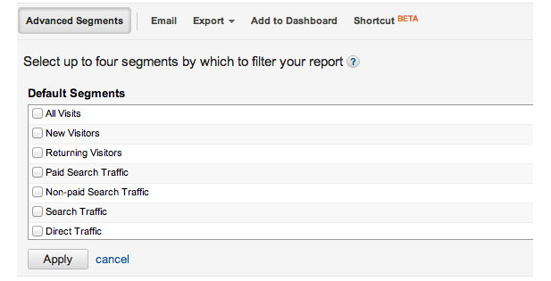how to use google analytics advanced segments
